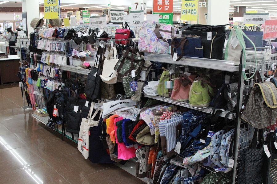 生協のバッグ売り場の画像