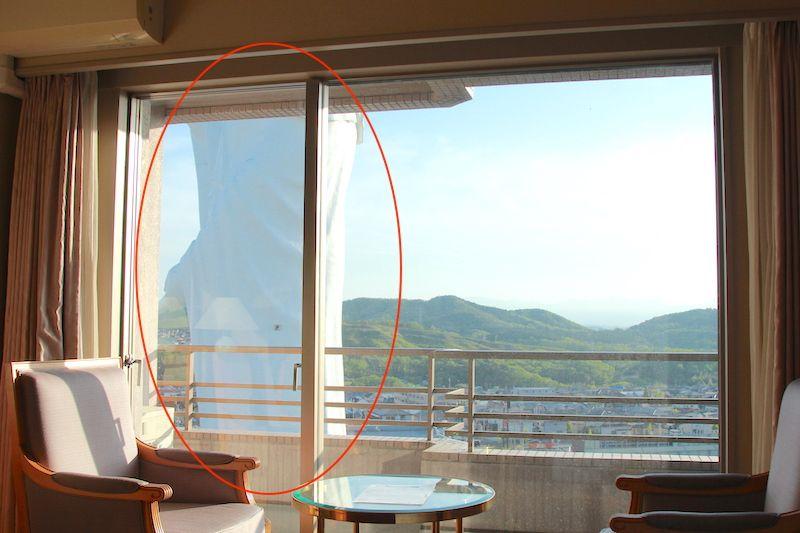 仙台ヒルズホテル11階からみた画像