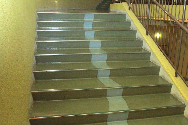 階段の水の部分