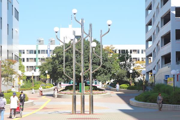 泉中央駅 噴水