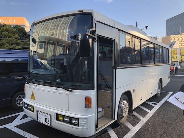 丸森町ボランティアバスツアーのバスの画像