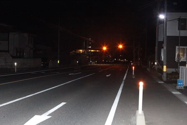 小牛田駅前の大通りの画像