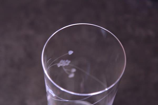 坊主バーの薄玻璃のグラスの画像