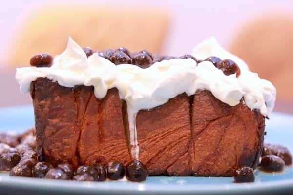 タピオカハニークリームトーストを横から見た画像