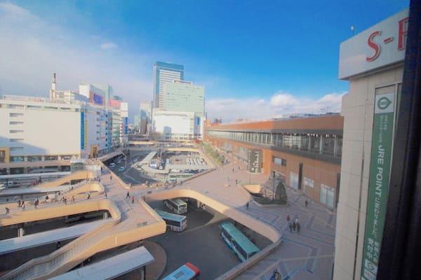 メトロポリタン仙台から仙台駅を見下ろす画像