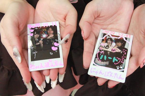 仙台のメイドカフェのチェキ撮影のチェキの画像