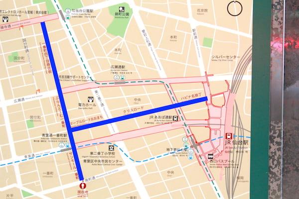 仙台のアーケードmap