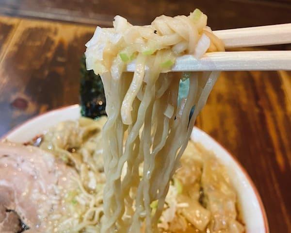 長町ラーメンの細麺の画像