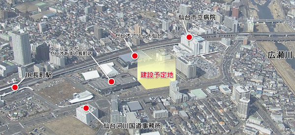 KHB東日本放送の新社屋の場所