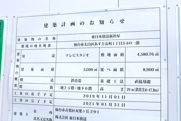 KHB東日本放送の建築計画のお知らせ