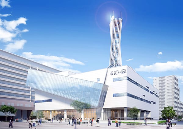 KHB東日本放送の新社屋パース画像