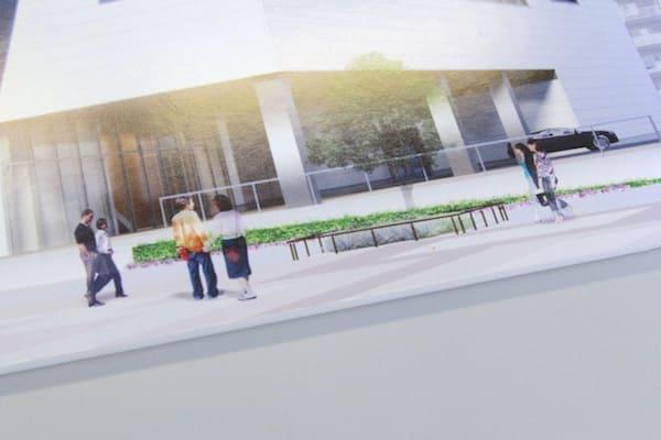 KHB東日本放送の新社屋の外観画像