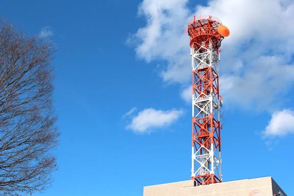 KHB東日本放送の現在の鉄塔の画像