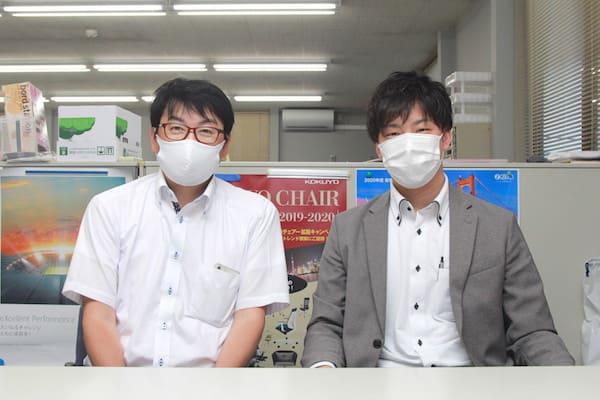 松本事務機の氣田さんと松本さんの画像