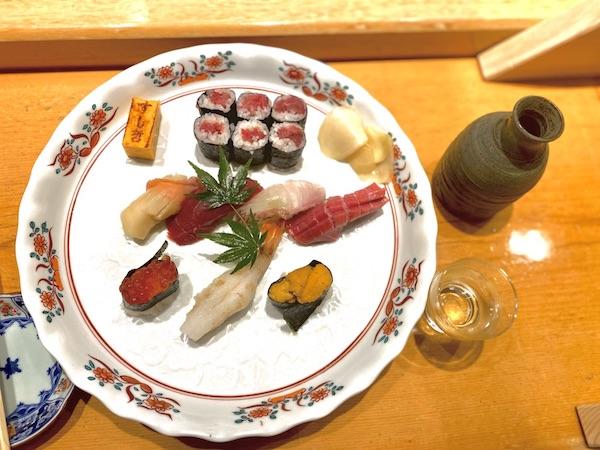 仙台駅のすし哲の寿司の画像
