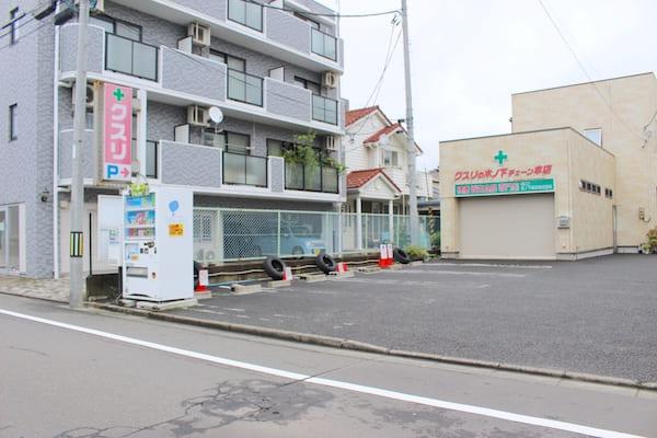 柴田パン本店の駐車場の画像