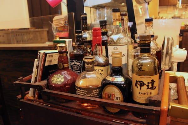 青山文庫のアルコールメニュー