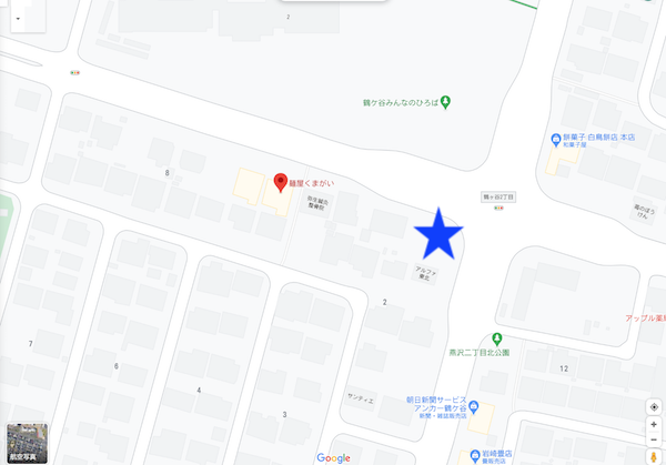 麺屋くまがいの第二駐車場の場所