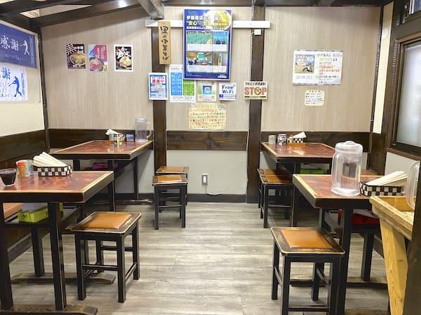 仙台の朝ラー店の内観画像