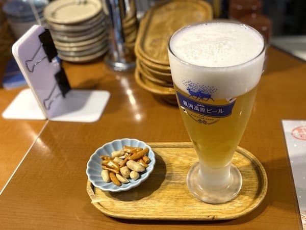 夕焼けビール園のクラフトビールの画像