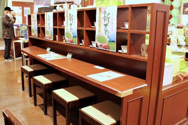 喜久水庵のイートインスペースの画像