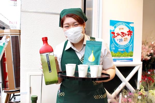 お茶の井ケ田の店頭抹茶の担当者画像