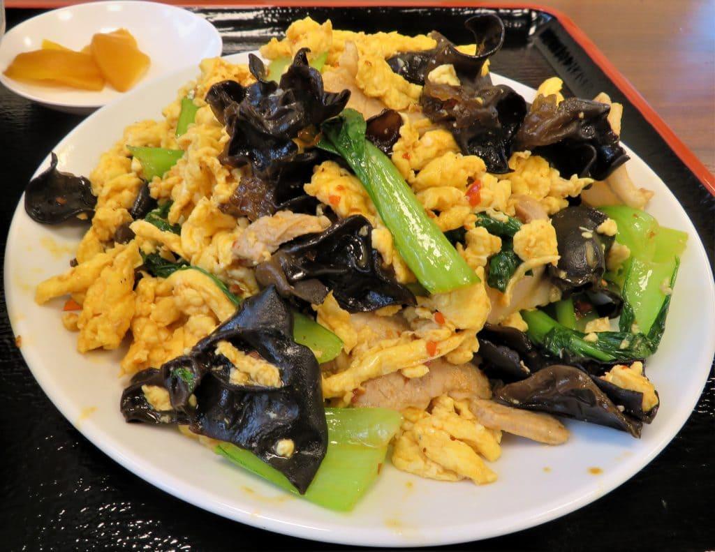 仙台の人気中華店の木耳と卵炒め